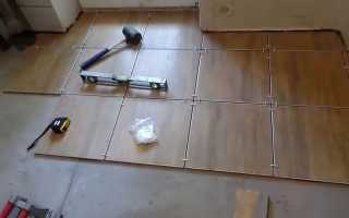 Как ровно уложить плитку на пол?