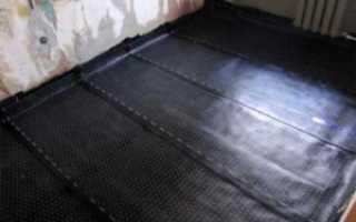 Гидроизоляция грунта в подполье